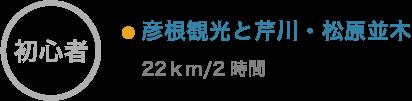 彦根観光と芹川・松原並木