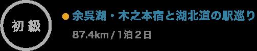 余呉湖・木之本宿と湖北道の駅巡り